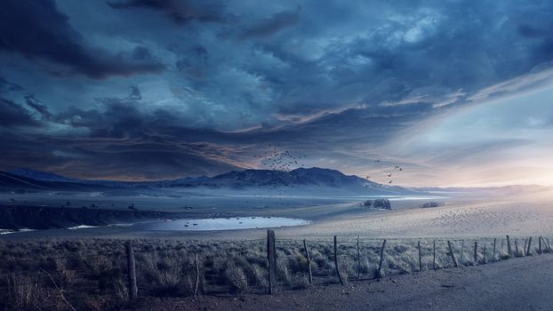 Photo free lake, fantasy, sky
