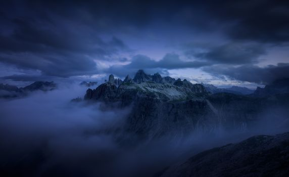 Mystical mountain landscape · free photo