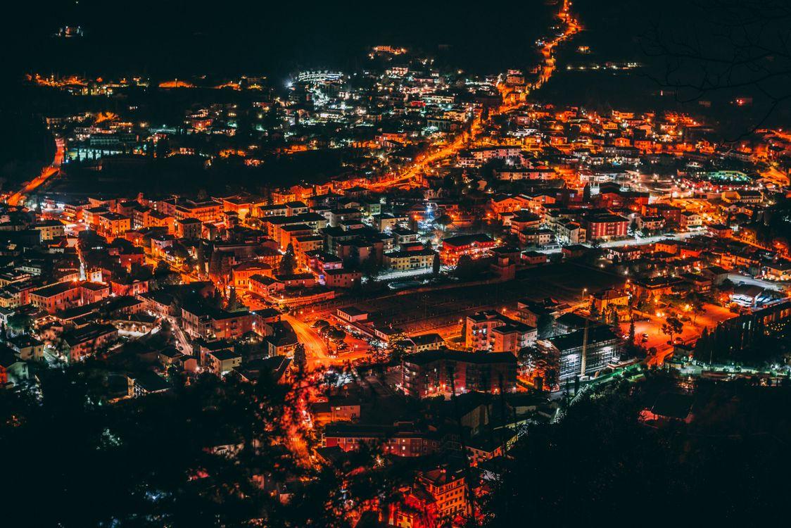 Ночной город · бесплатная заставка