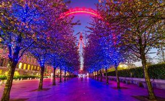Фото бесплатно иллюминация, лондон, николс