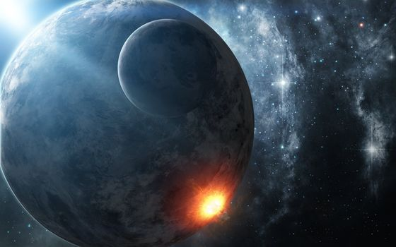 Photo free explosion, meteorite, star