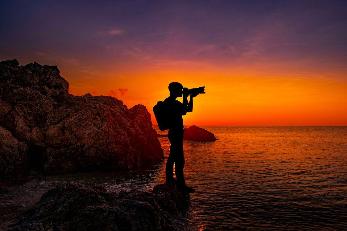 Фото бесплатно море, небо, смеркаться - на рабочий стол