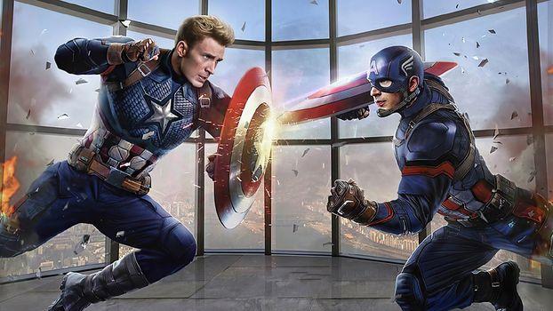 Photo free artstation, artist, Captain America