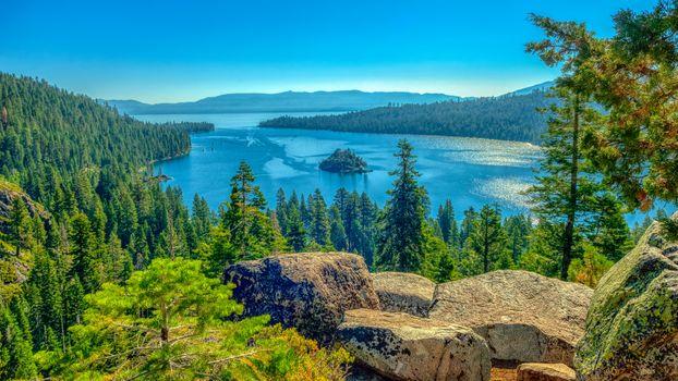 Фото бесплатно Озеро Тахо, Калифорния, камни