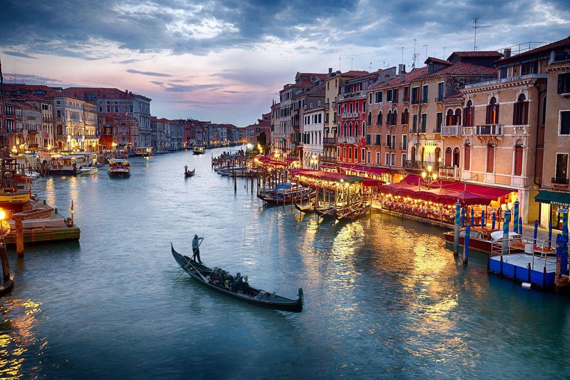 Фото бесплатно Венеция, Venice, Италия, Гранд-канал, город - скачать на рабочий стол