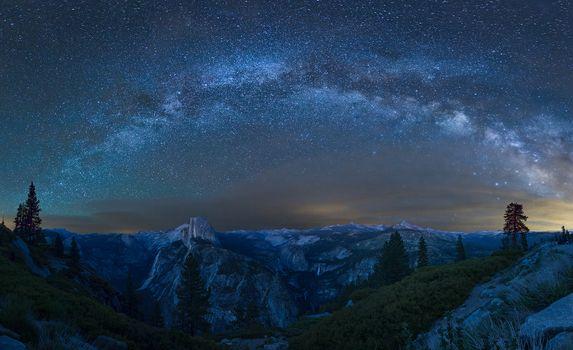 Фото бесплатно Млечный Путь, Glacier Point, Yosemite Park
