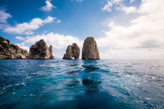Фото бесплатно скалы, рябь, облака
