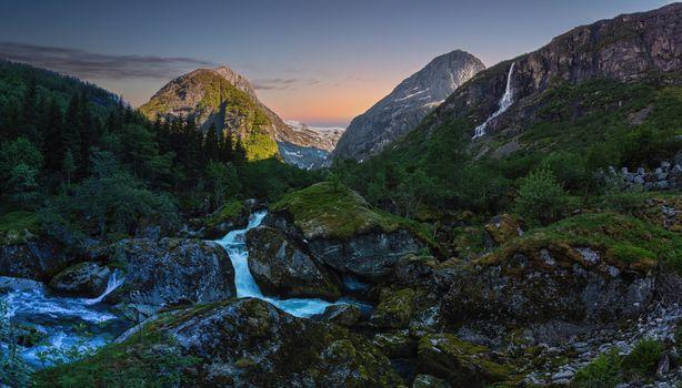 Photo free nature, Norway, creeks