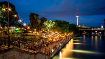 Фото бесплатно освещение, Берлин, парк