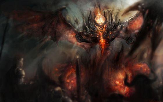 Бесплатные фото Dota,демон,теневой дьявол,Nevermore,Dota 2,видеоигры