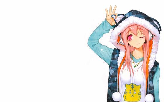 Photo free super sonico, anime girl, pink hair
