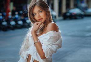 Бесплатные фото женщины,лицо,блондинка,портрет,Евгений Фрейер,загорелая,глубина резкости