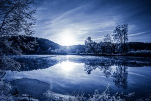 Бесплатные фото закат, озеро, деревья, пейзаж