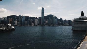 Заставки минимализм, строительная площадка, Гонконг