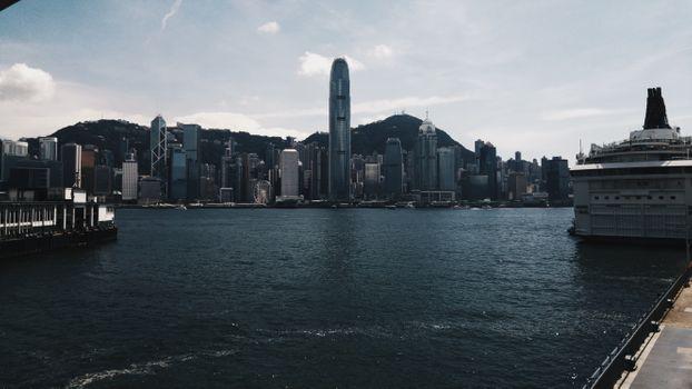 Photo free minimalism, construction site, Hong Kong