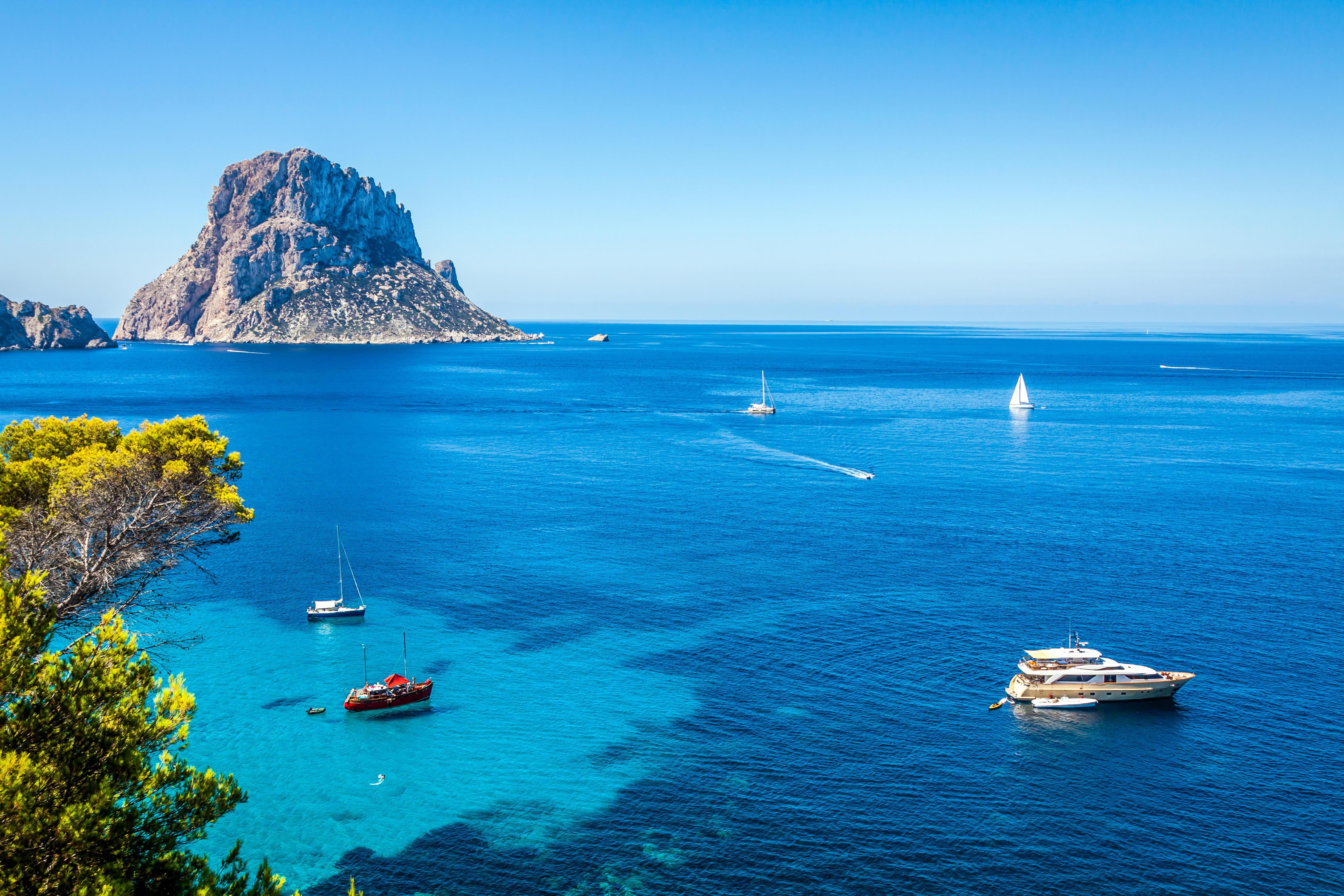 Обои море, яхты, острова