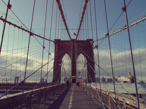 Фото бесплатно Нью-Йорк, мост, вантовый мост