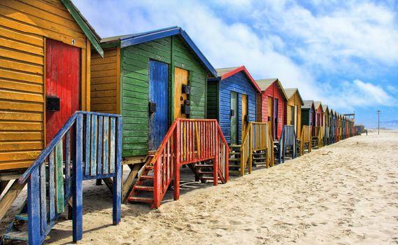 Photo free beach, wood, house