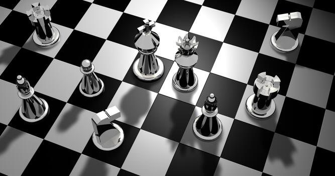 Фото бесплатно монохромный, шахматы, тень