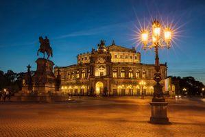 Бесплатные фото Dresden,Deutschland,Дрезден,Германия,ночь