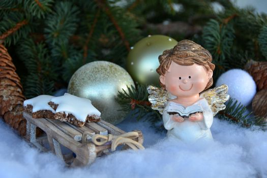 Photo free christmas angel, greeting card, tree
