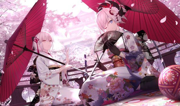 Фото бесплатно великий порядок судьбы, окита суйи, кимоно