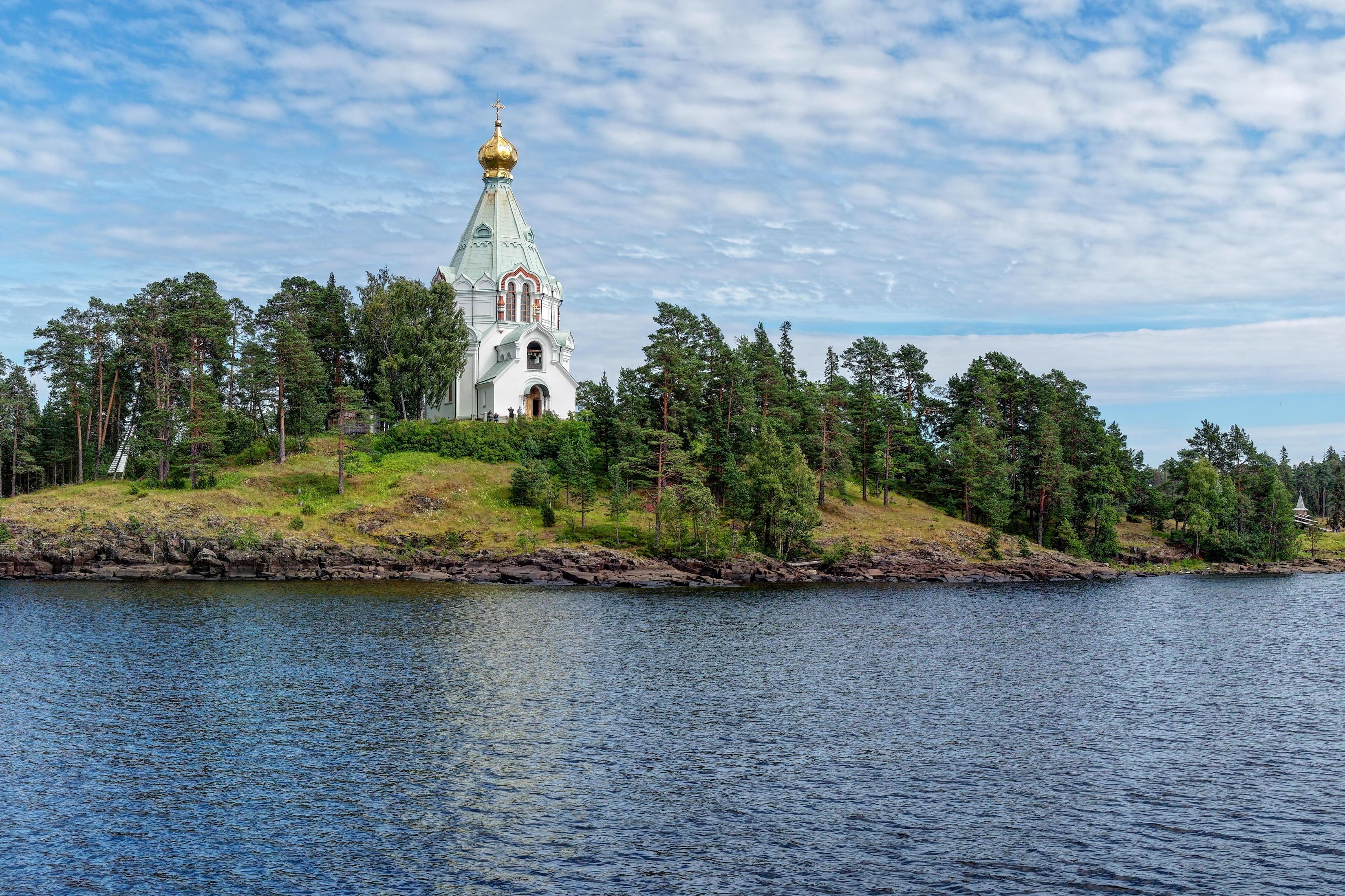 Обои Ладожское озеро, Валаам, Скит во имя святителя Николая Чудотворца, пейзаж