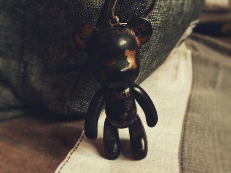 Photo free keychain, mouse, black