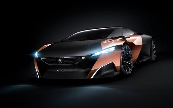 Фото бесплатно Peugeot Onyx, передний план, суперкар