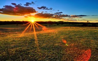 Фото бесплатно сумрак, поле, сельская местность