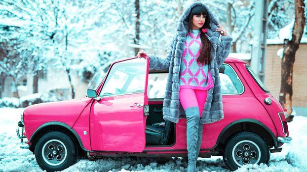Photo free tight clothing, Mini Cooper, Russian
