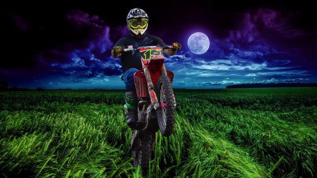 Фото бесплатно мотоцикл, уилер, поле