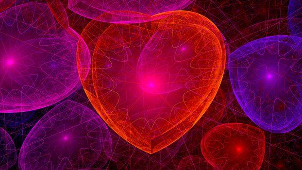 Заставки сердечки, абстракция, фон