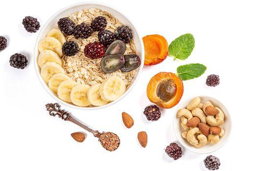 Photo free apricot, nuts, grains