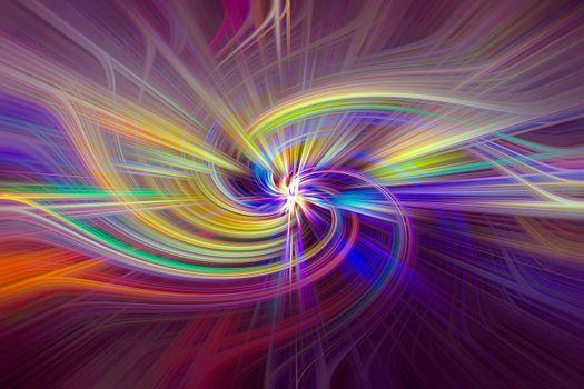 Фото бесплатно линии, вращение, красочные