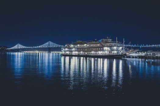 Фото бесплатно корабль, мост, свет
