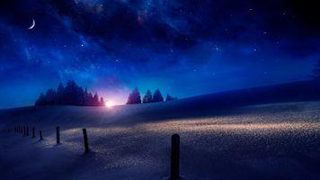 Фото бесплатно сумерки, ночь, закат