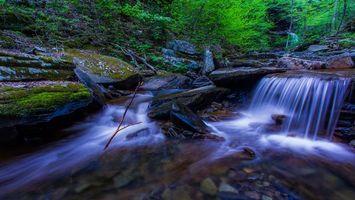 Фото бесплатно река, водопад, течение
