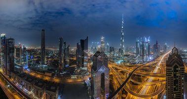 Фото бесплатно Объединенные Арабские Эмираты, ночь, город