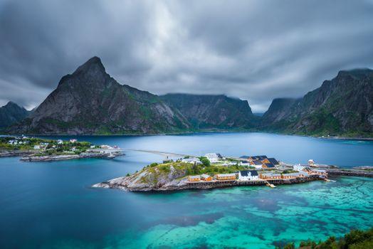 Фото норвегия, пейзаж - обои на стол