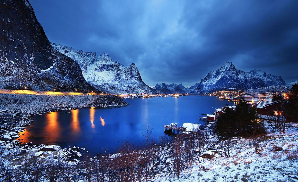 Фото бесплатно Лофотенские острова, Рейне, Reine, Норвегия, Lofoten, Lofoten Islands, fonwall ru, пейзажи