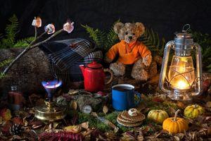 Фото бесплатно лампа, чайник, кружка