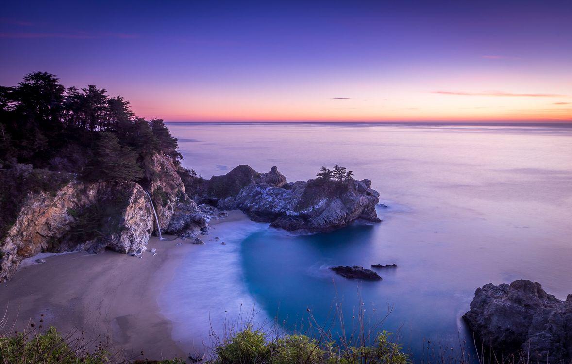 Фото бесплатно Калифорния, Джулия Парк Пфайффер Берн, Пляж McWay Cove - на рабочий стол