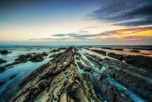 Бесплатные фото Фигейра-да-Фос,Португалия,закат,море,скалы,пейзаж