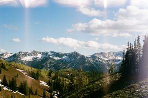Фото бесплатно Альпы, снег, горные формы рельефа