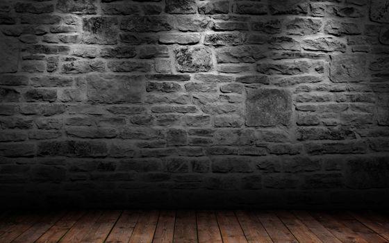 Фото бесплатно стена, свет, кирпичи