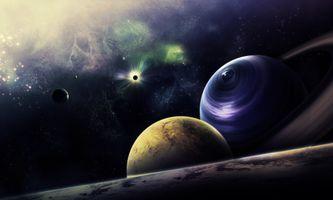 Бесплатные фото космос,вселенная,планеты,свечение,невесомость,вакуум,галактика