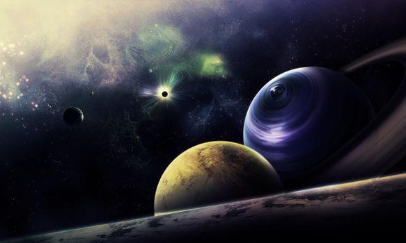 Бесплатные фото космос,вселенная,планеты,свечение,невесомость,вакуум,галактика,art