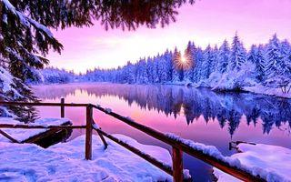 Фото бесплатно зима, Computer graphics, пейзаж