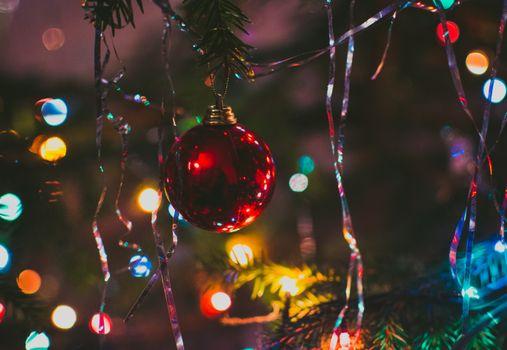 Фото бесплатно рождественская елка, мяч, для